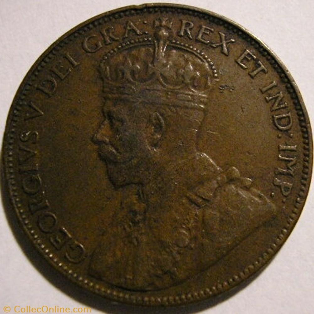 monnaie monde canadum george v one cent 1936 newfoundland