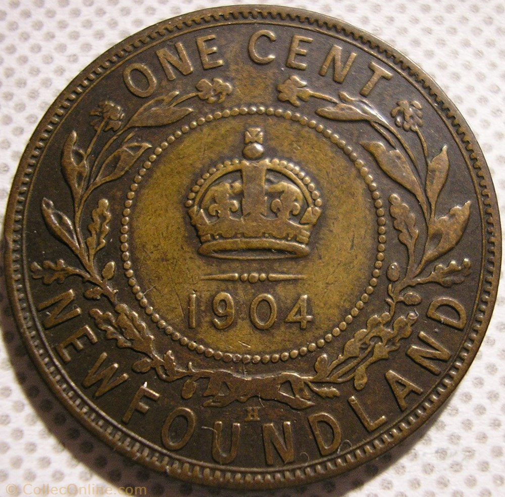 monnaie monde canadum edward vii 1 cent 1904 newfoundland