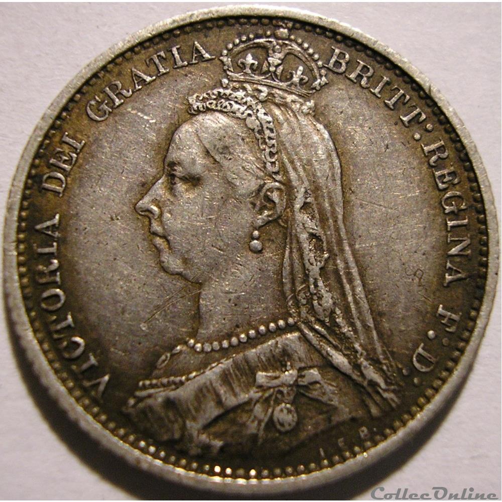 monnaie monde royaume uni victoria sixpence 1887 kingdom of great britain