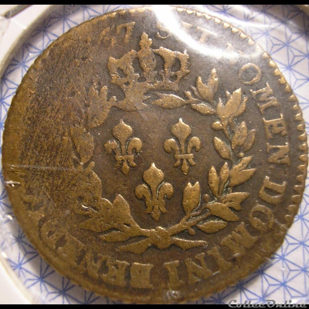 monnaie france colony louis xv sol de 12 deniers 1767 a colonies amerique