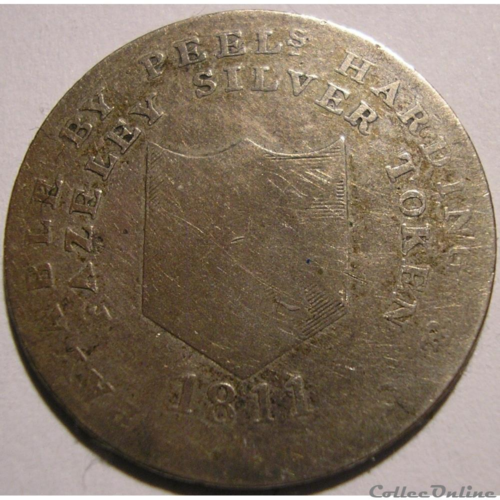 monnaie monde royaume uni 1811 shilling fazeley staffordshire