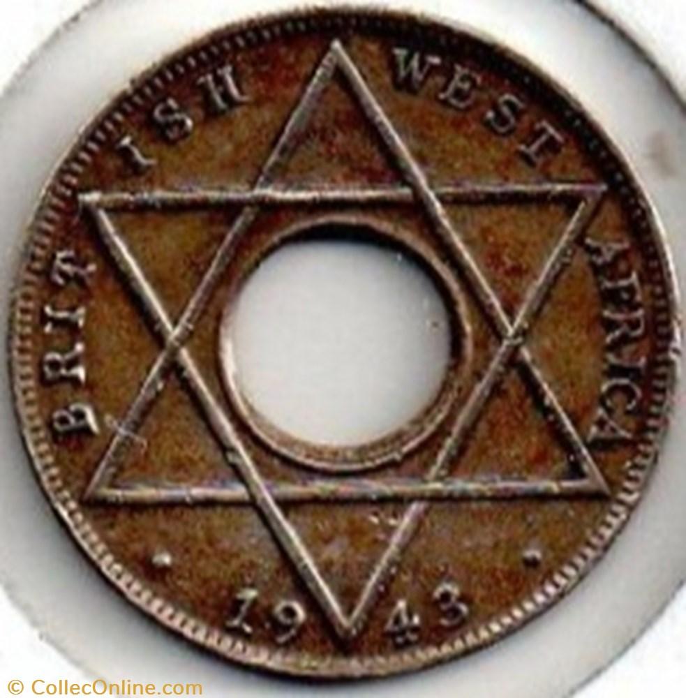 monnaie monde nigerium george vi 1 10 penny 1943 west africa