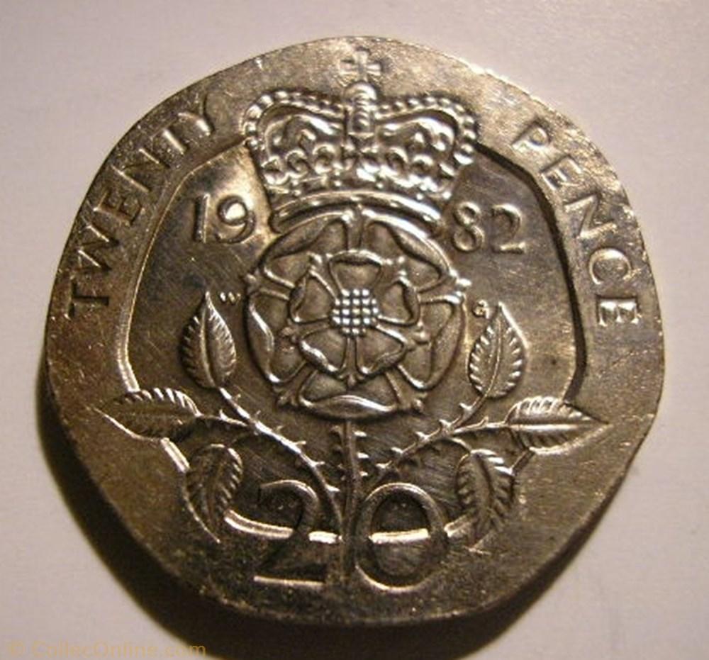 monnaie monde royaume uni elizabeth ii 20 pence 1982 uk