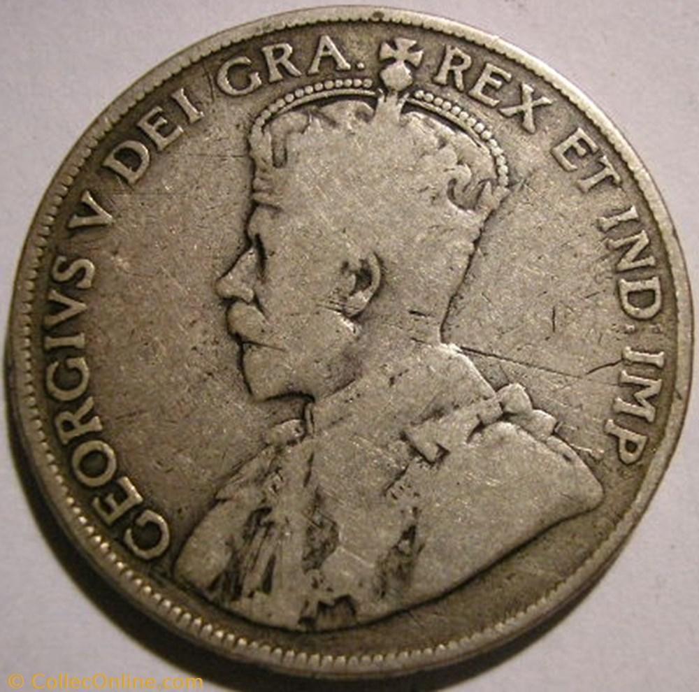 monnaie monde canadum george v 50 cents 1918