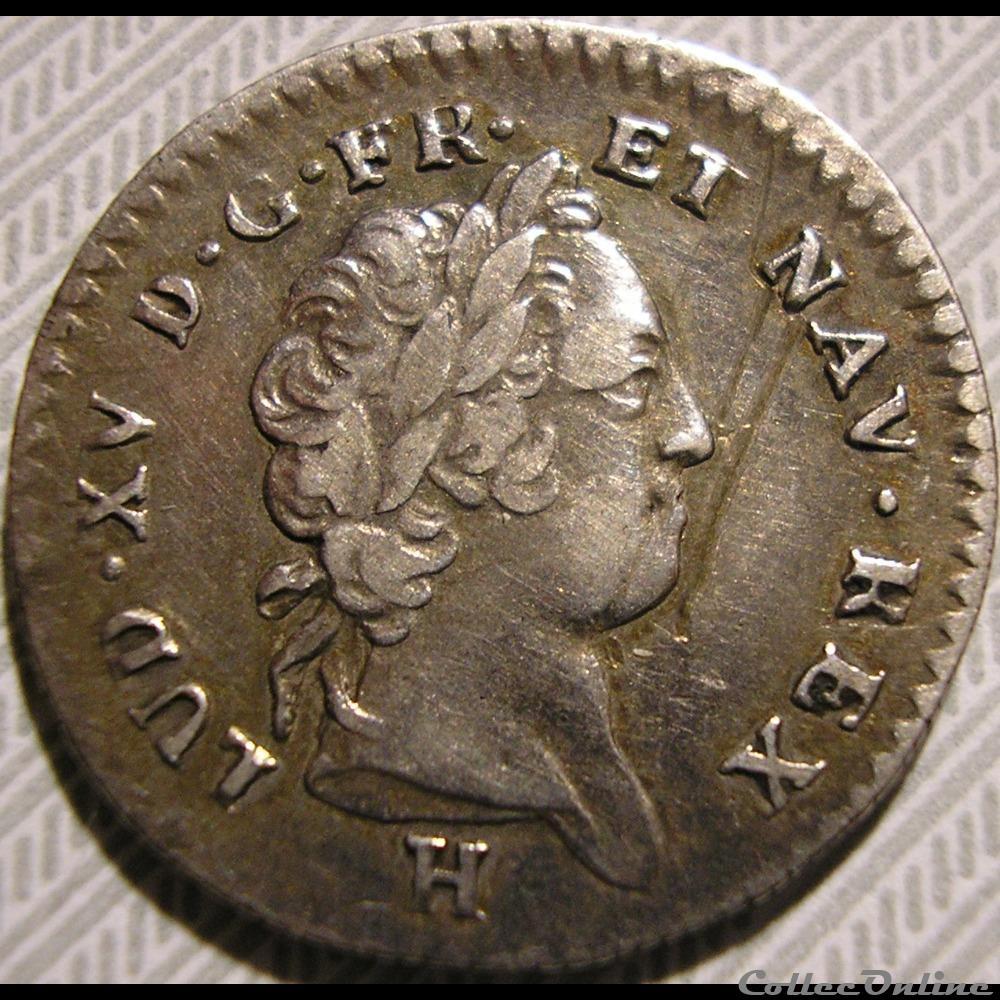 monnaie france royale louis xiv 12 sols 1731 la rochelle isles du vent