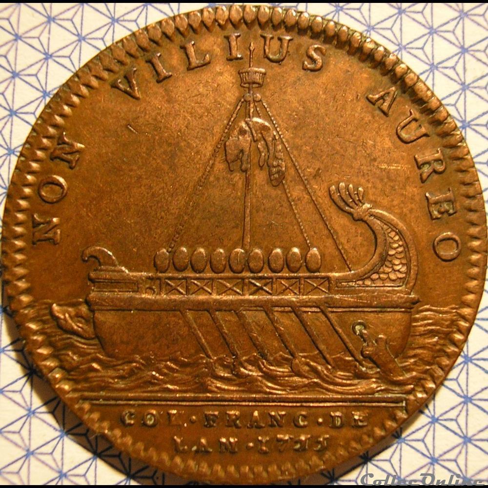 monnaie france colony louis xv colonies francaises de amerique canada 1753 jeton