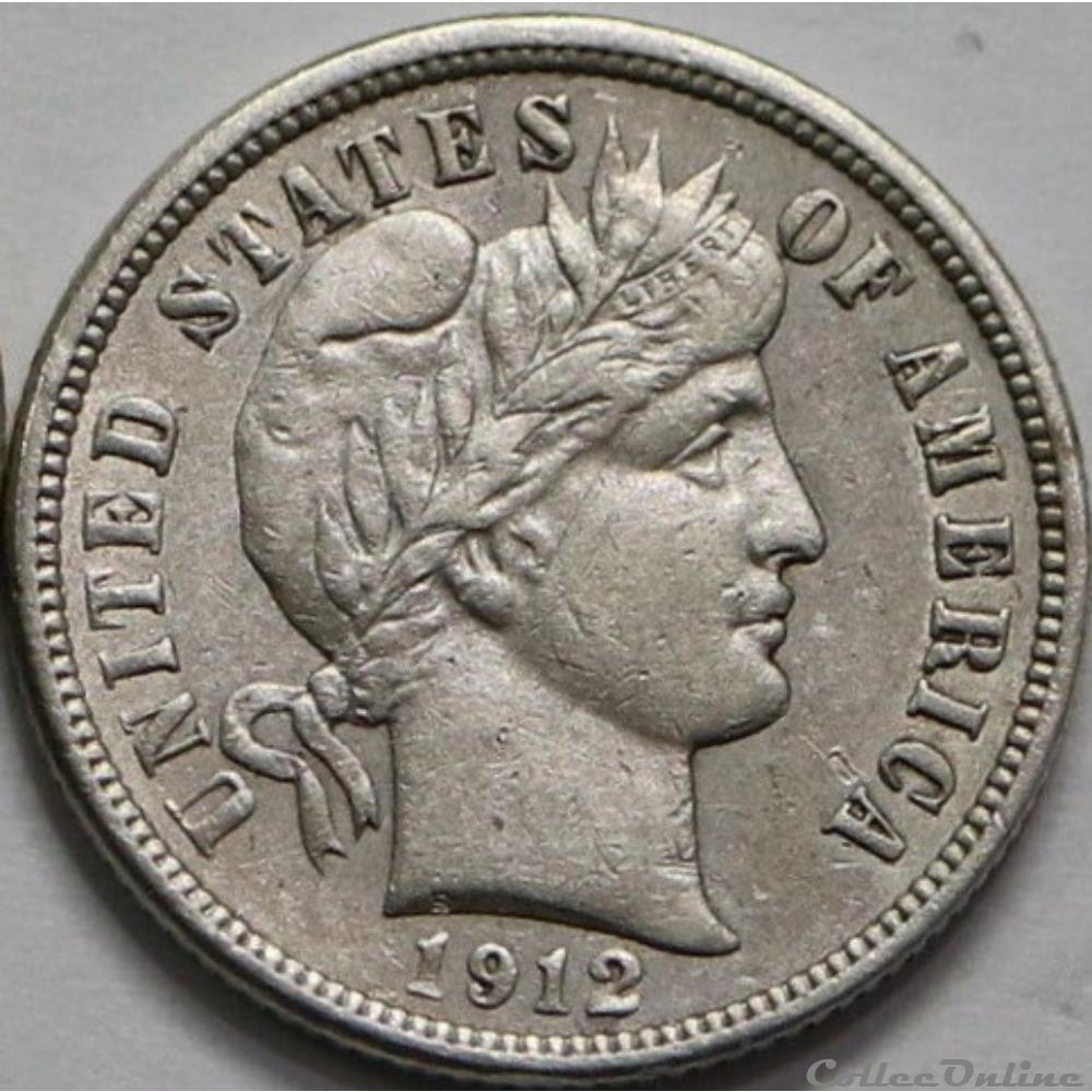 monnaie monde etat uni 1912 dime