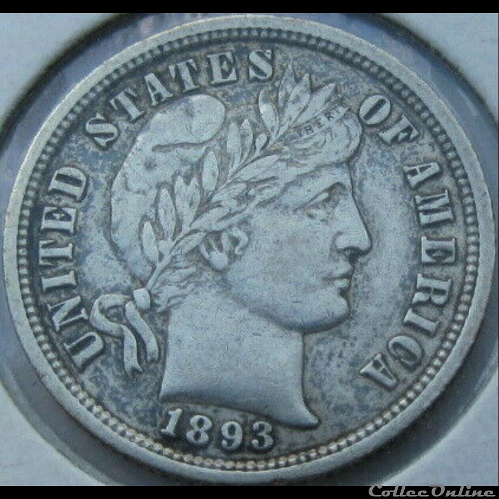 monnaie monde etat uni 1893 dime