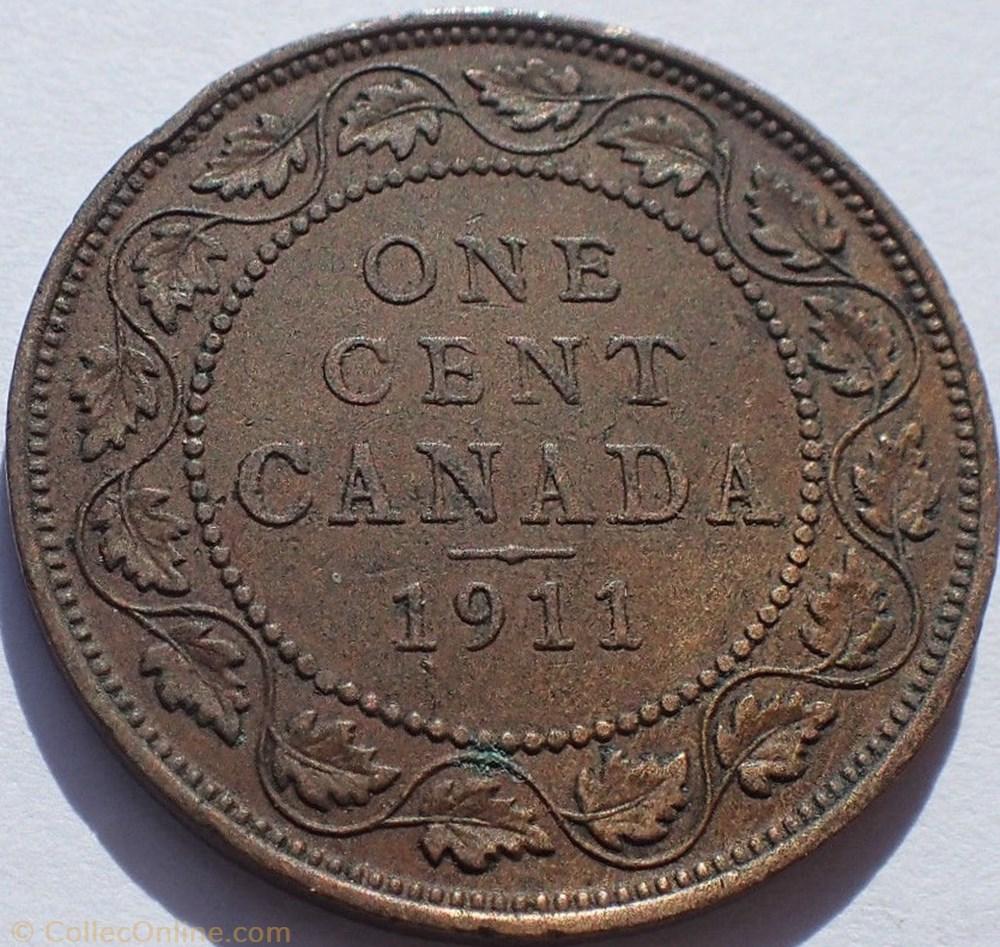 monnaie monde canadum george v 1 cent 1911 ex 2