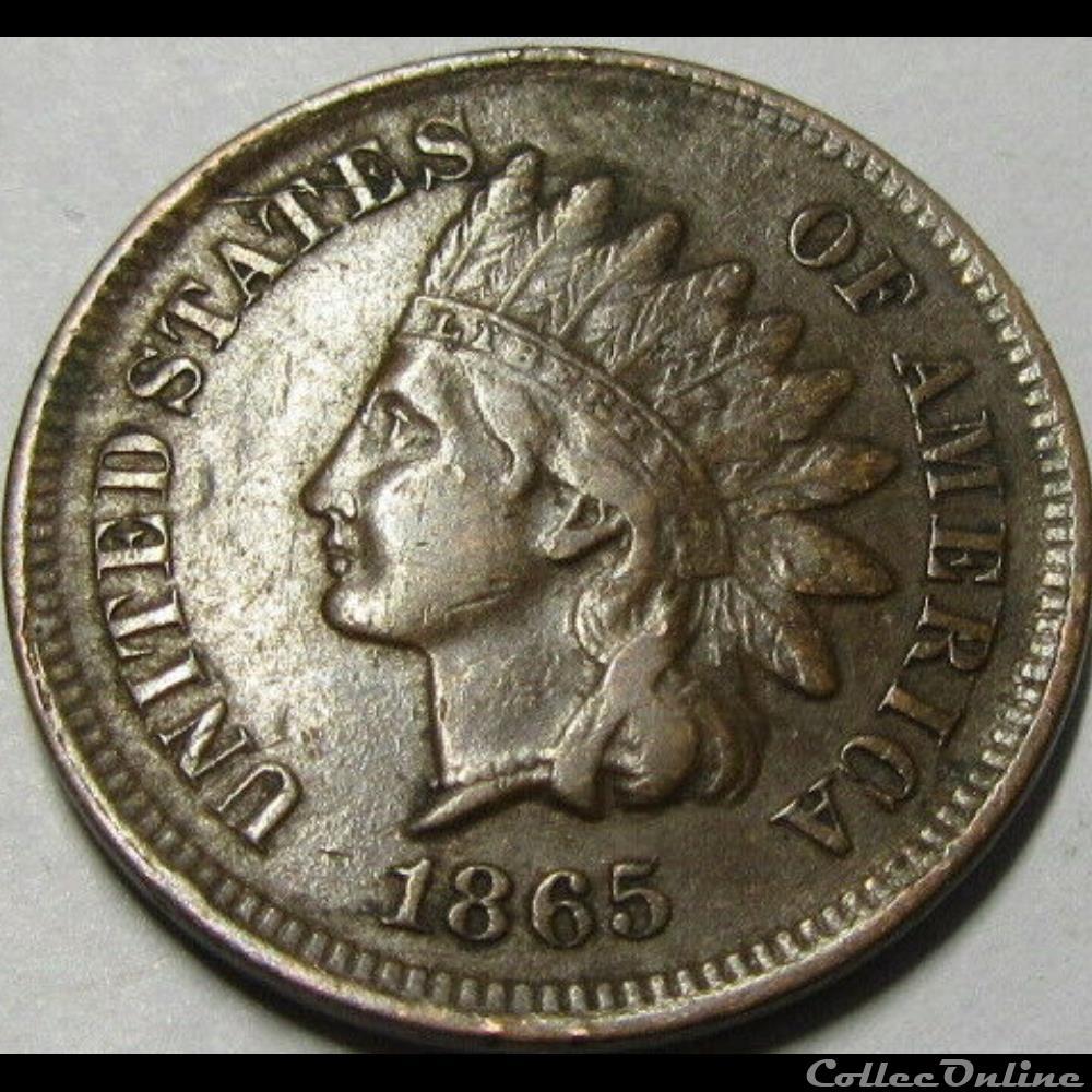 monnaie monde etat uni 1865 one cent ex 3