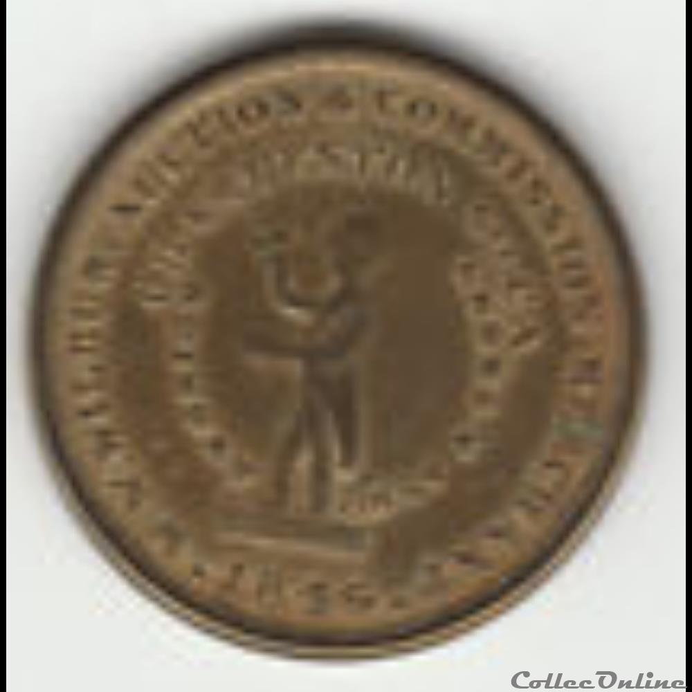 monnaie monde etat uni 1846 cent token slaves auction