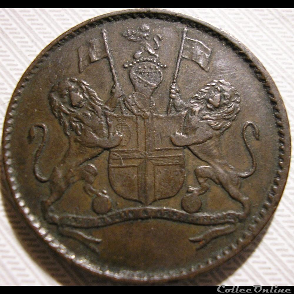 monnaie monde royaume uni st helena 1821 halfpenny cie brit indes orientales