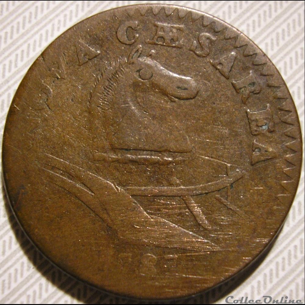 monnaie monde etat uni 1787 cent new jersey post 1776 states coinage 2