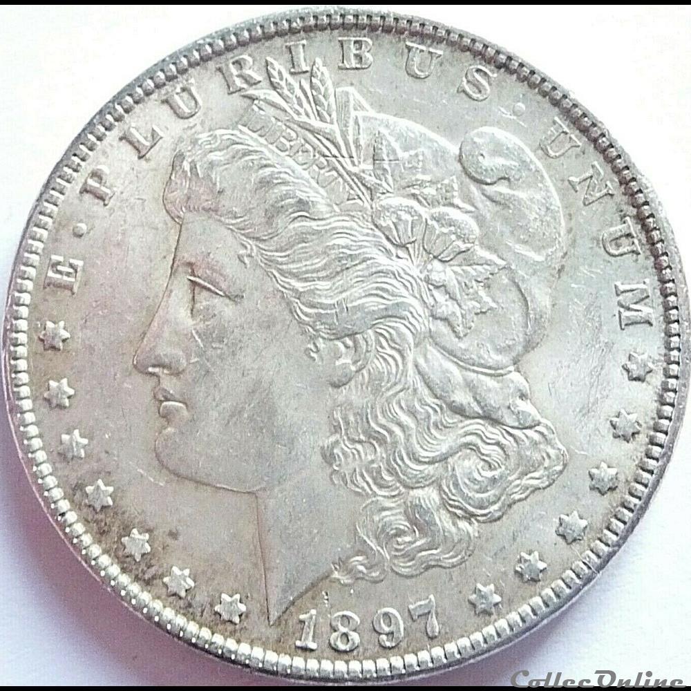 monnaie monde etat uni 1897 dollar one