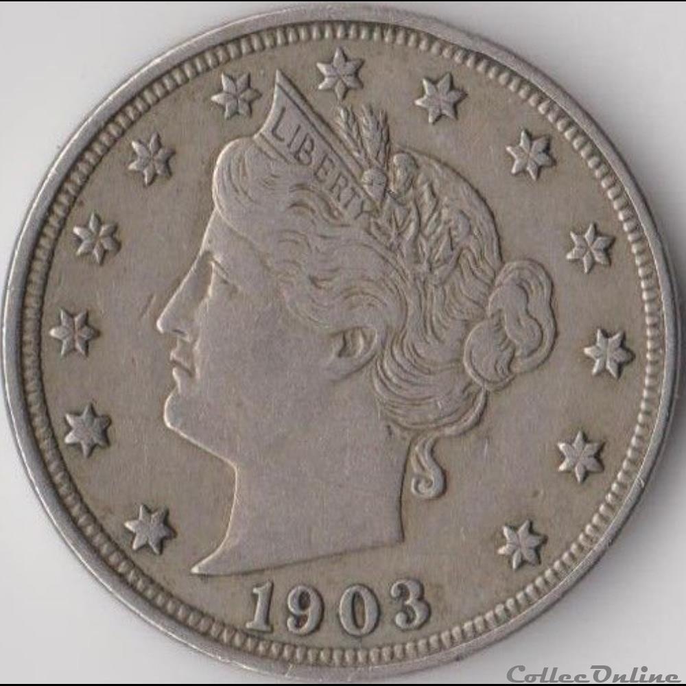 monnaie monde etat uni 1903 5 cents