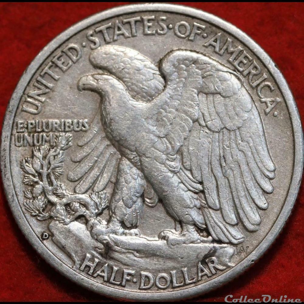 monnaie monde etat uni 1943 denver half