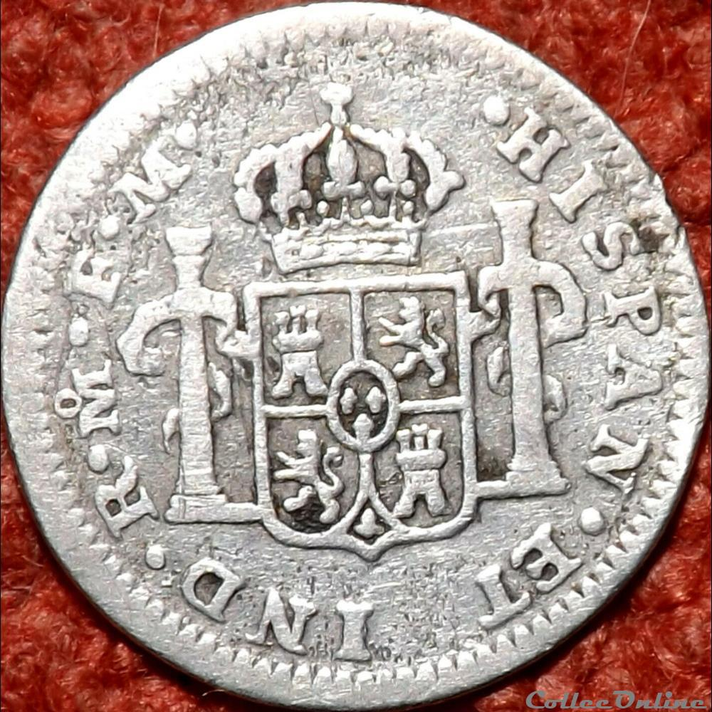 monnaie monde mexique mexico 1 2 real 1777 6 fm carlos iii de espana
