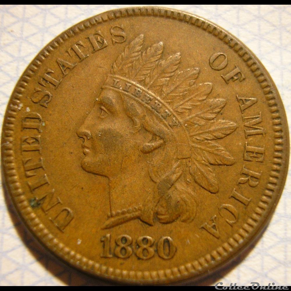monnaie monde etat uni 1880 one cent