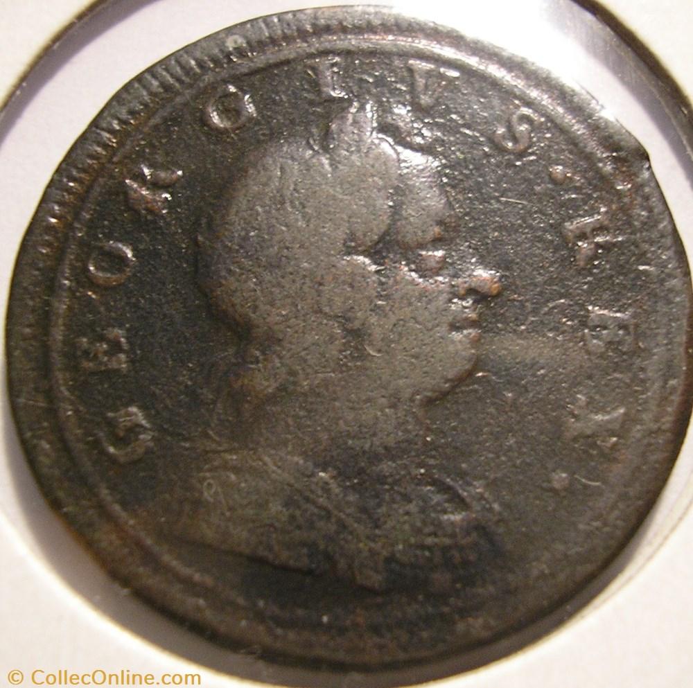 monnaie monde royaume uni george ist halfpenny 1719 kingdom of great britain