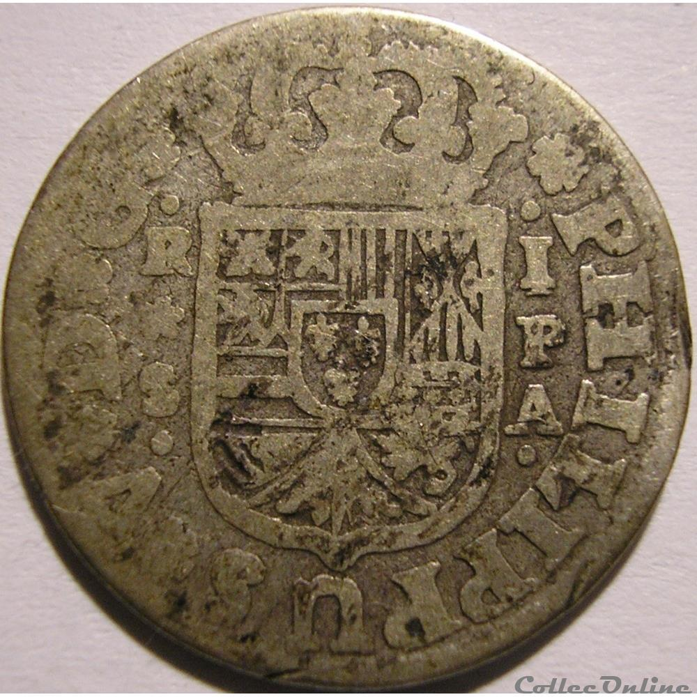 monnaie monde espagne 1732 sevilla 1 real felipe v de espana