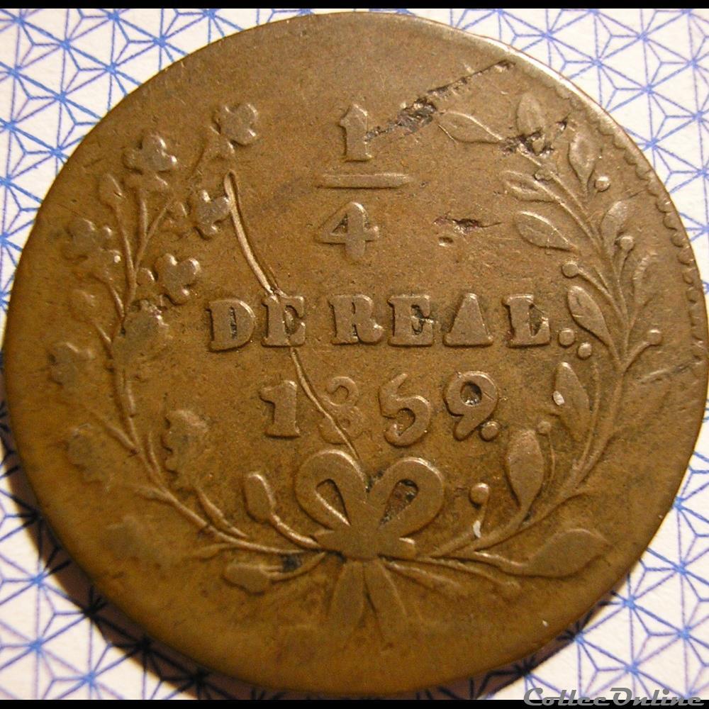 monnaie monde mexique mexico 1 4 real 1859 estado sinaloa 1st republic