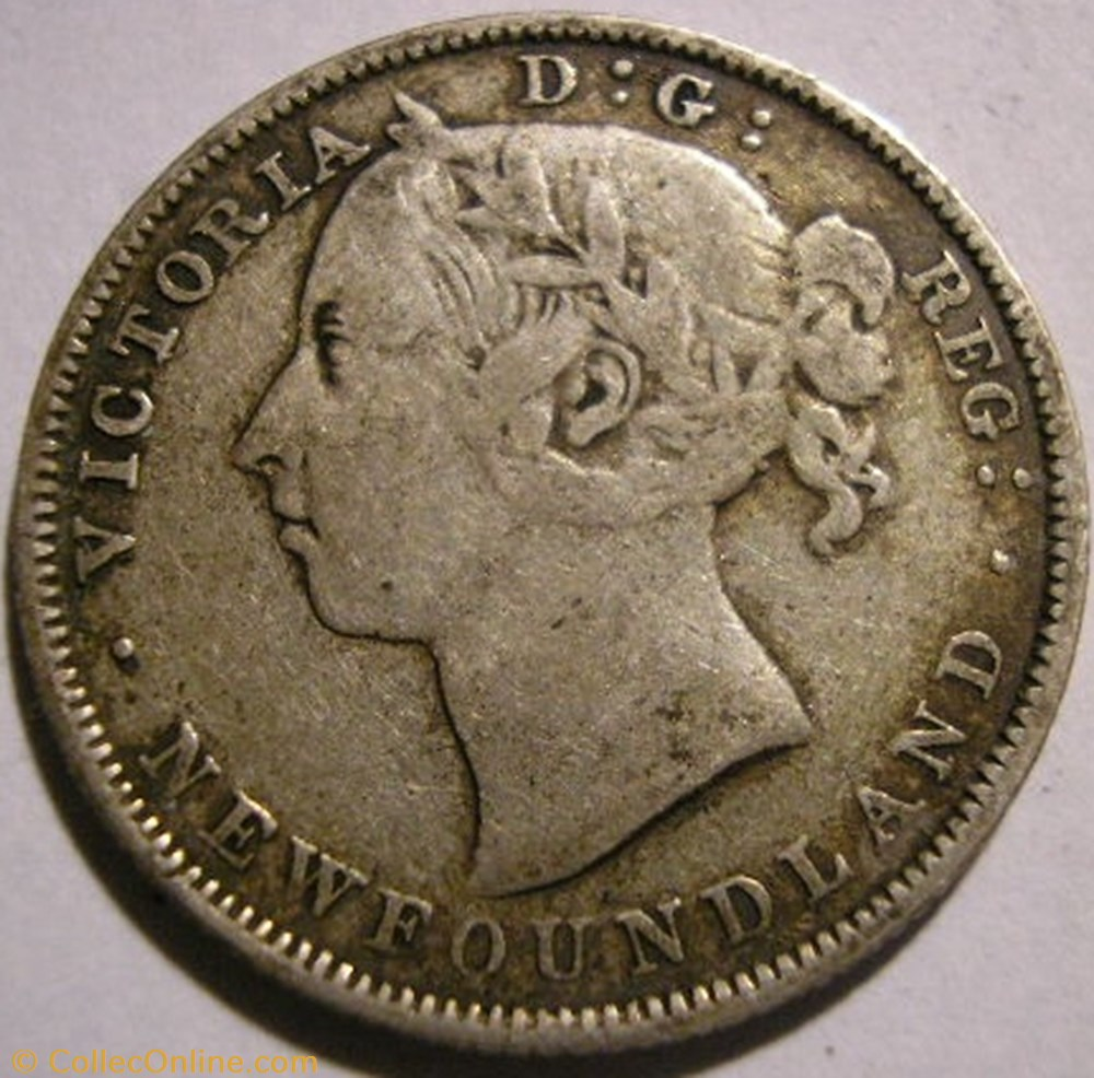 monnaie monde canadum victoria 20 cents 1888 newfoundland