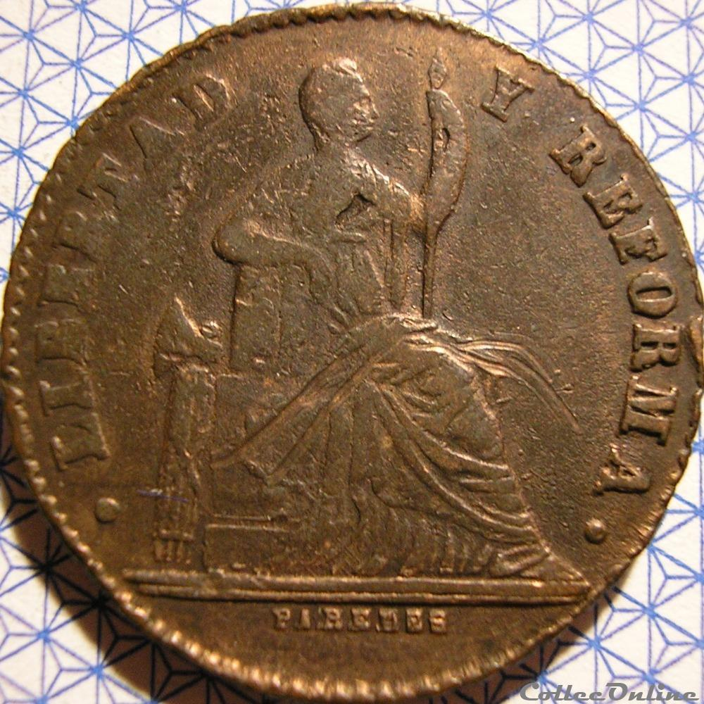 monnaie monde mexique mexico 1 centavo 1863 2nd republic