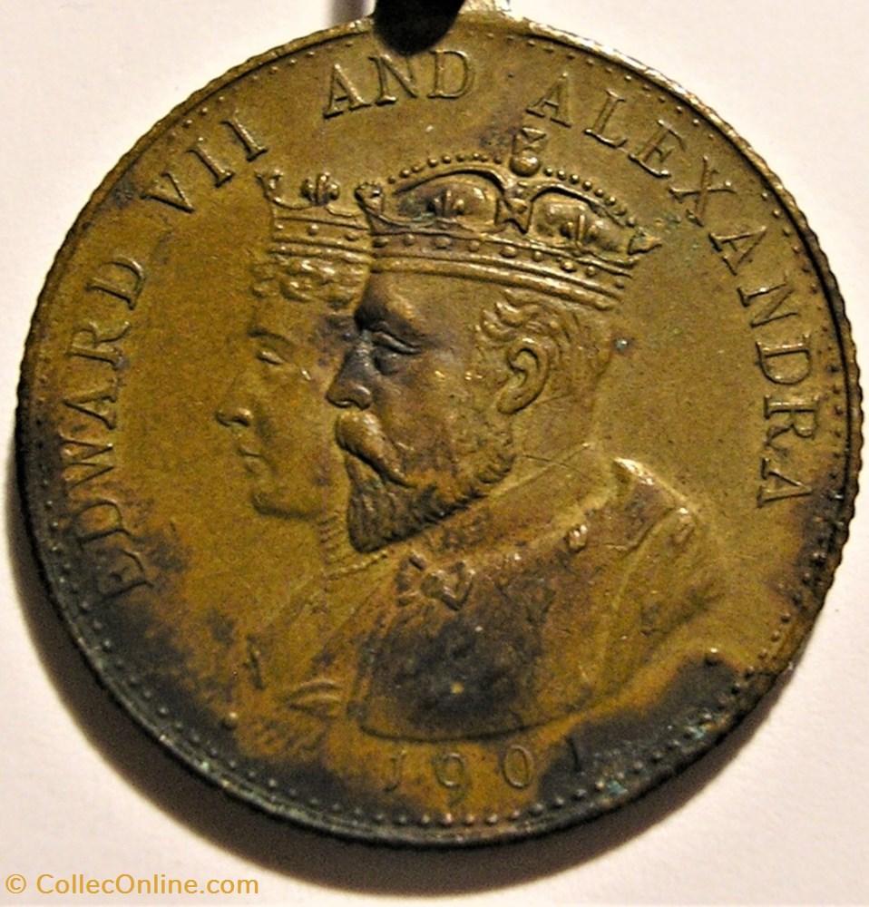 medaille royaume uni edward vii alexandra medallion accession coronation 1901 1902