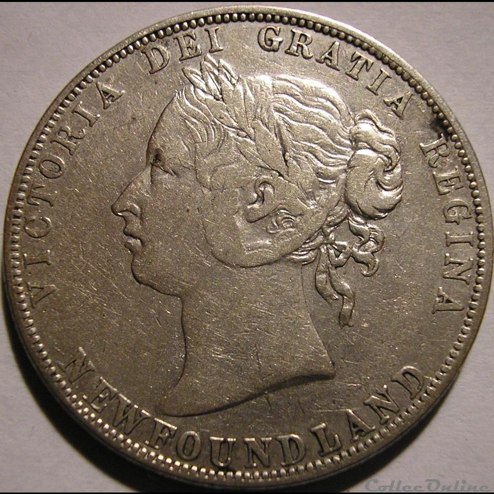 monnaie monde canadum victoria 50 cents 1894 newfoundland