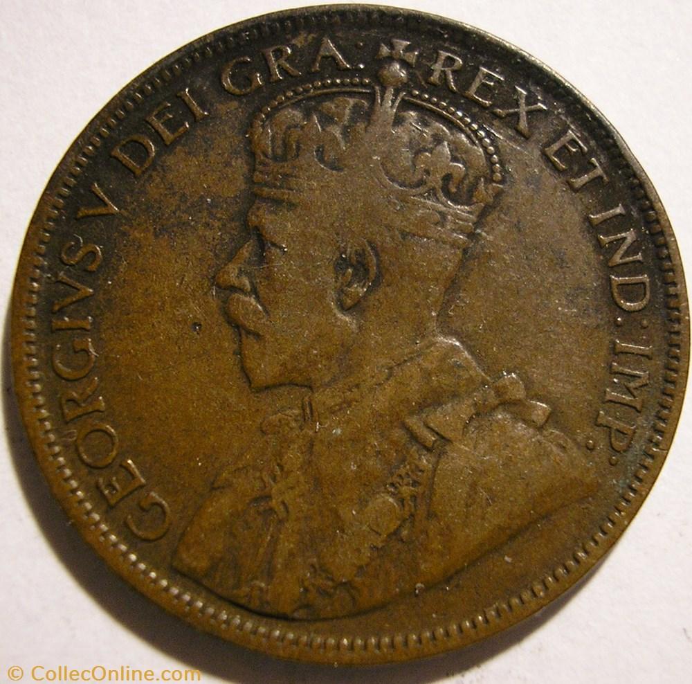 monnaie monde canadum george v 1 cent 1918