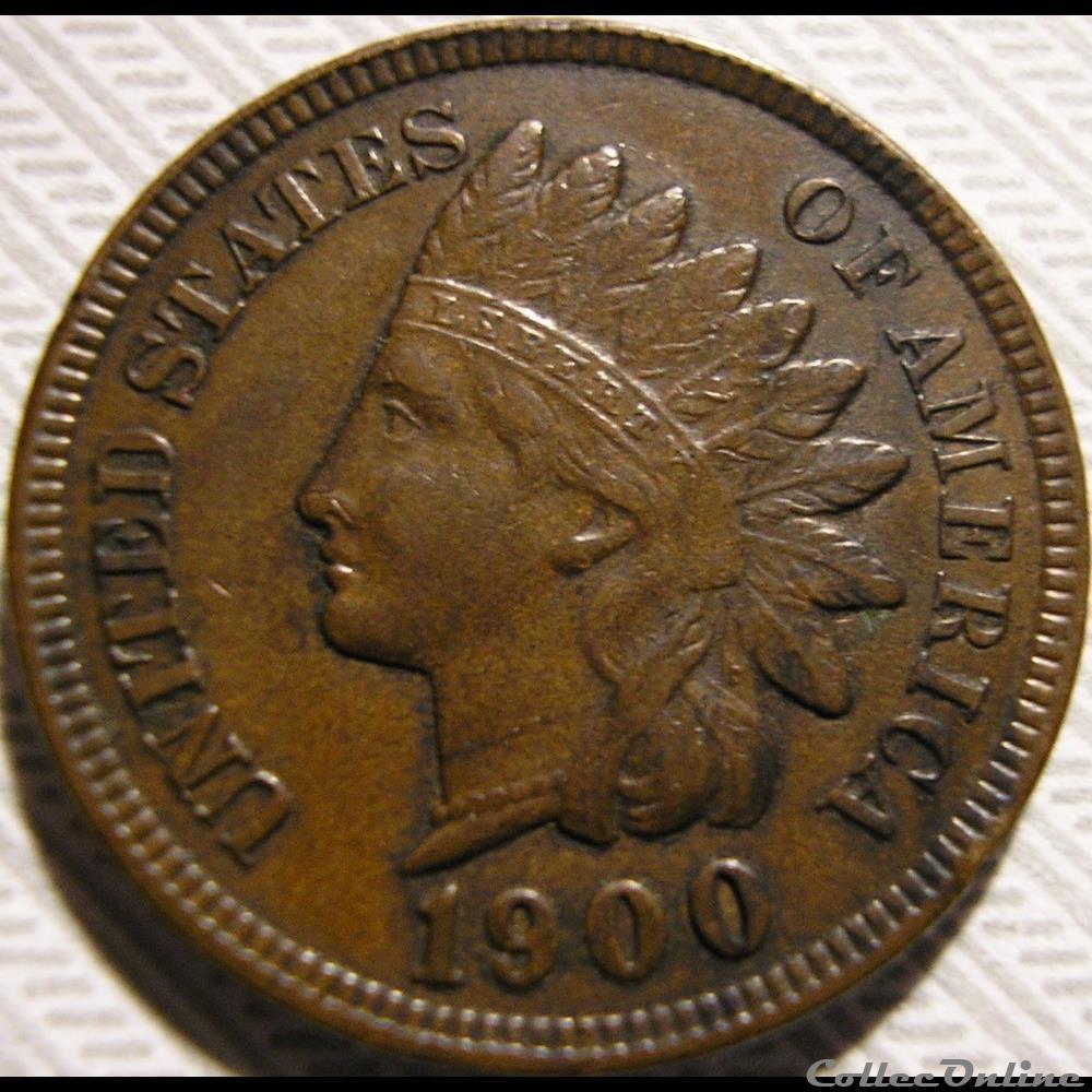 monnaie monde etat uni 1900 one cent ex 2