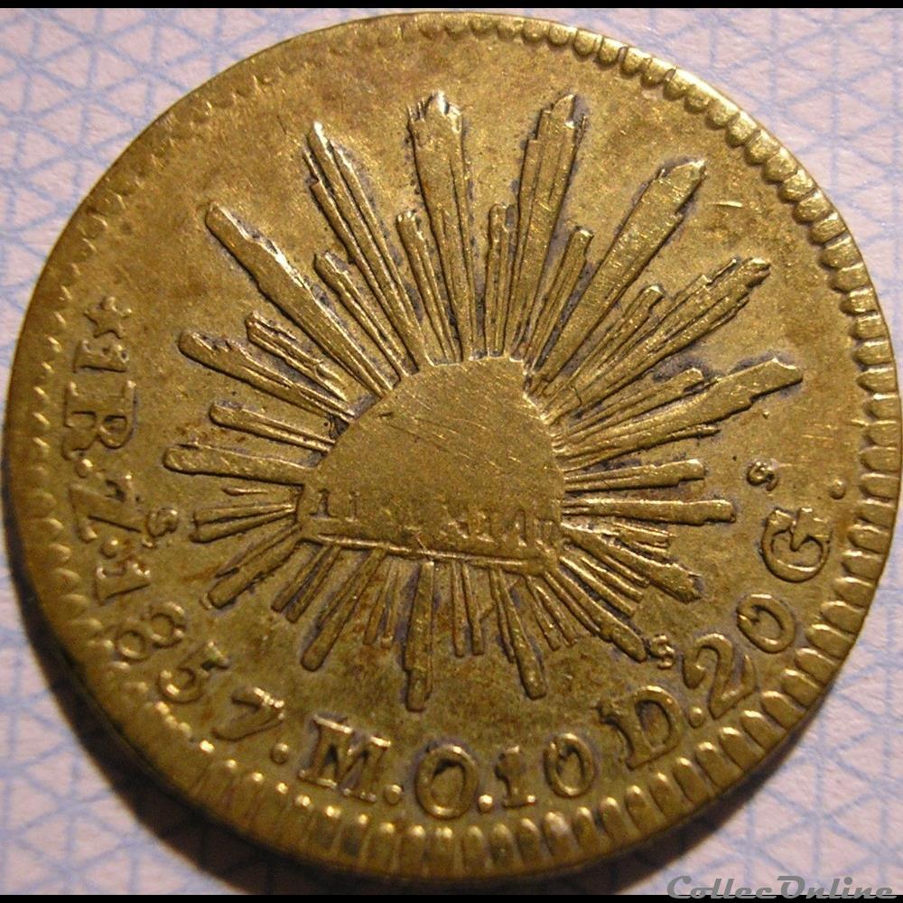 monnaie monde mexique mexico real 1857 1st republic