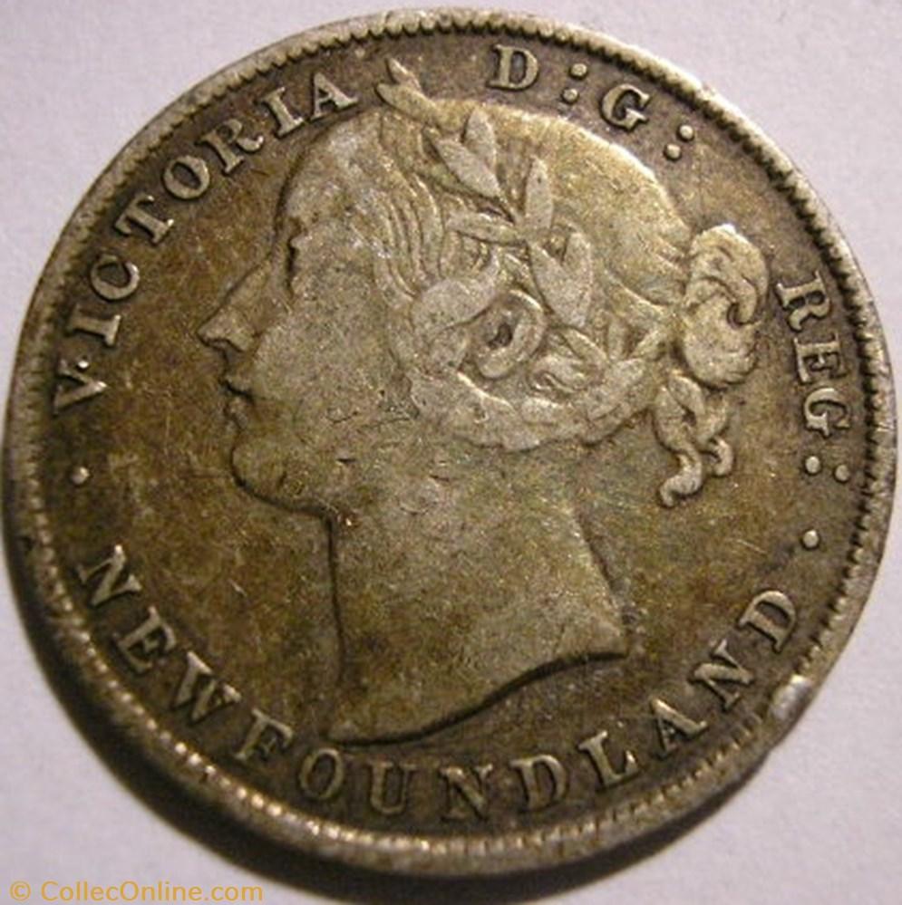 monnaie monde canadum victoria 20 cents 1896 newfoundland