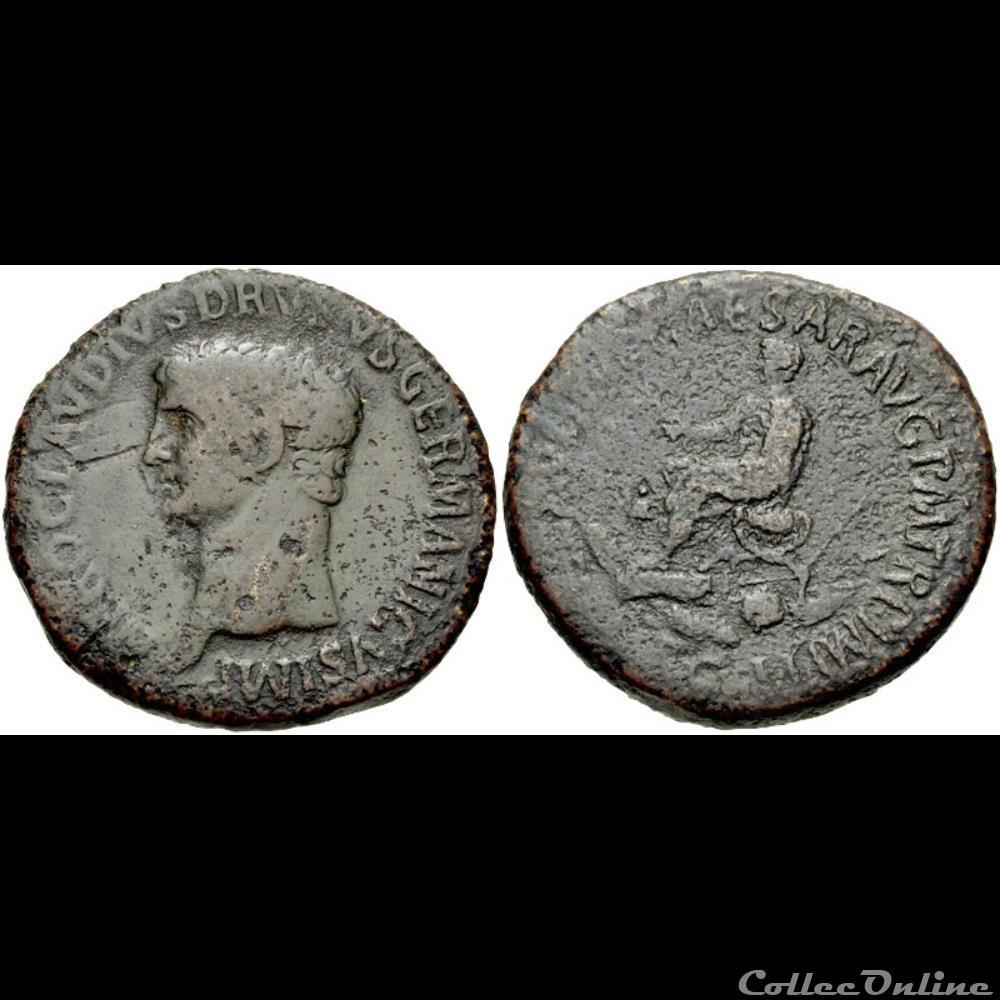 coin ancient roman 019 nero claudius drusus