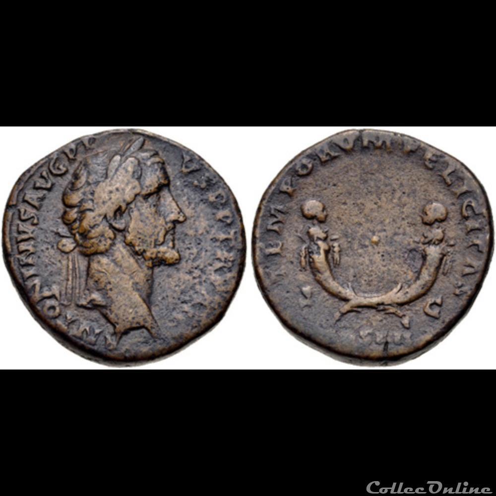 coin ancient roman 050 t aelius antoninus and t aurelius antoninus