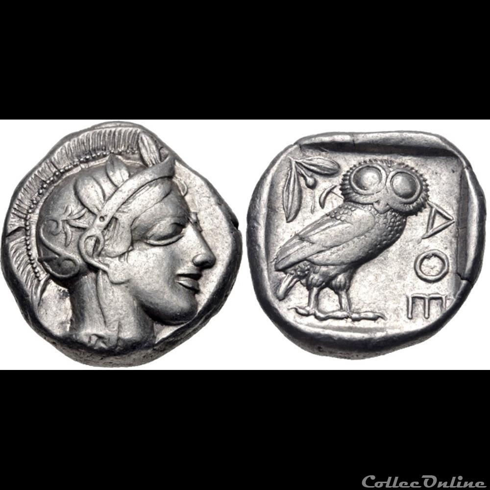 coin ancient b to greek attica athens