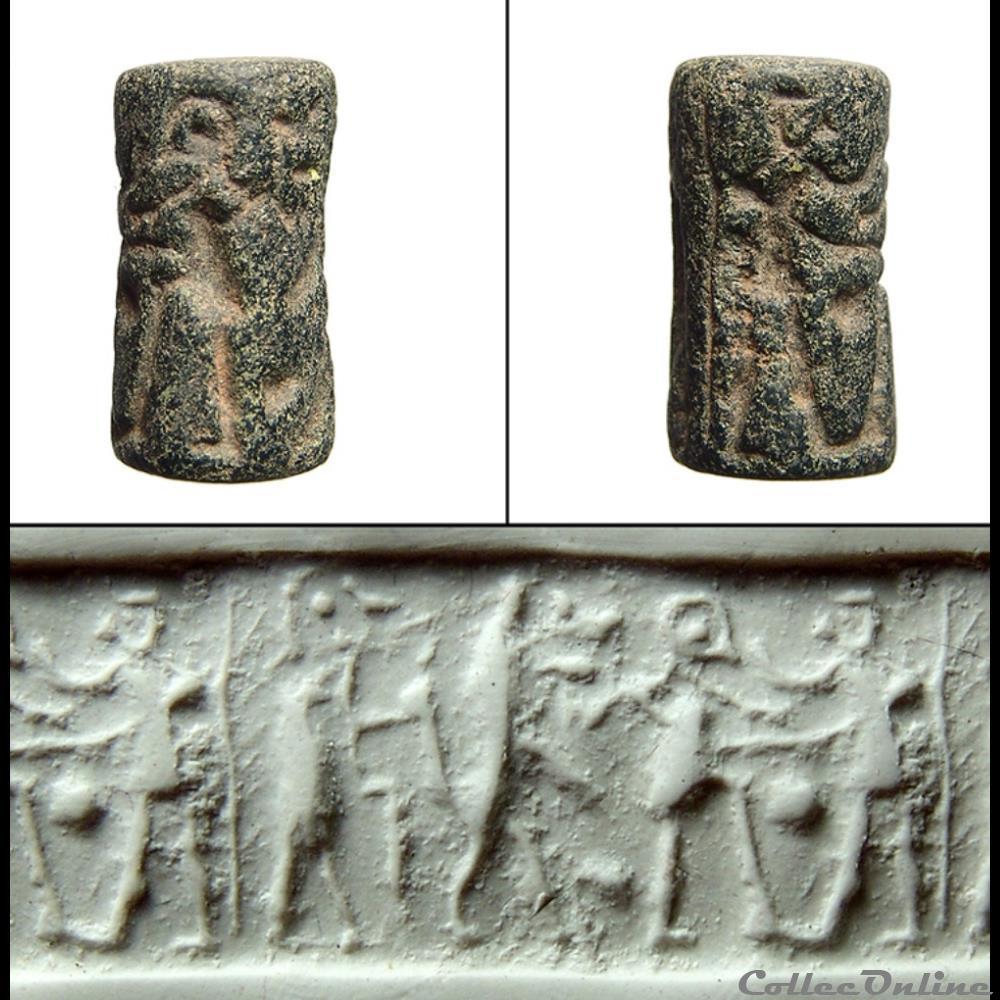 coin ancient far east early dynastic ii iii provincial cylinder seal mesopotamia