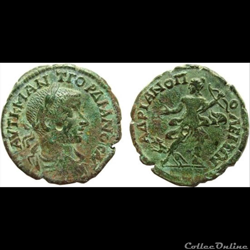 coin ancient roman provincial ae26 tetrassarion of gordian iii 238 244 ad hadrianopolis thrace