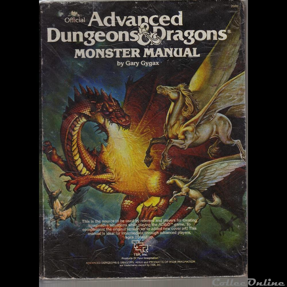 jeux jouet manuscrit moderne monster manual par gary gygax edition 1979