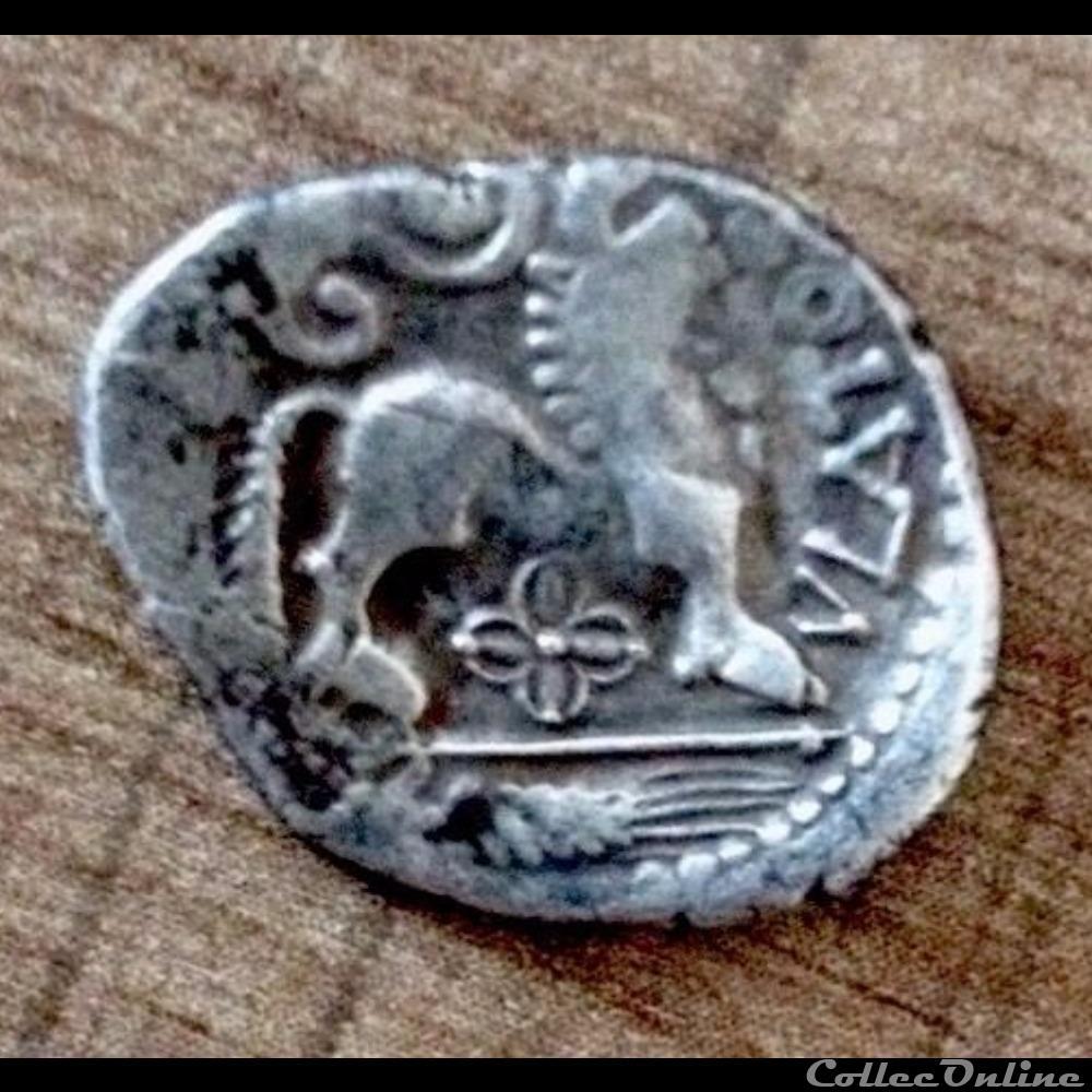 monnaie antique gauloise serie 83 dt 641 quinaire atevla vlatos a epi et a la fleur