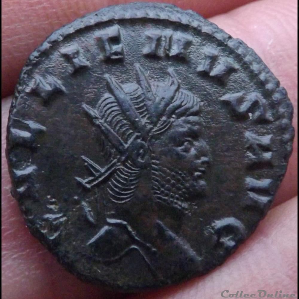 monnaie antique romaine gallien biche a gauche
