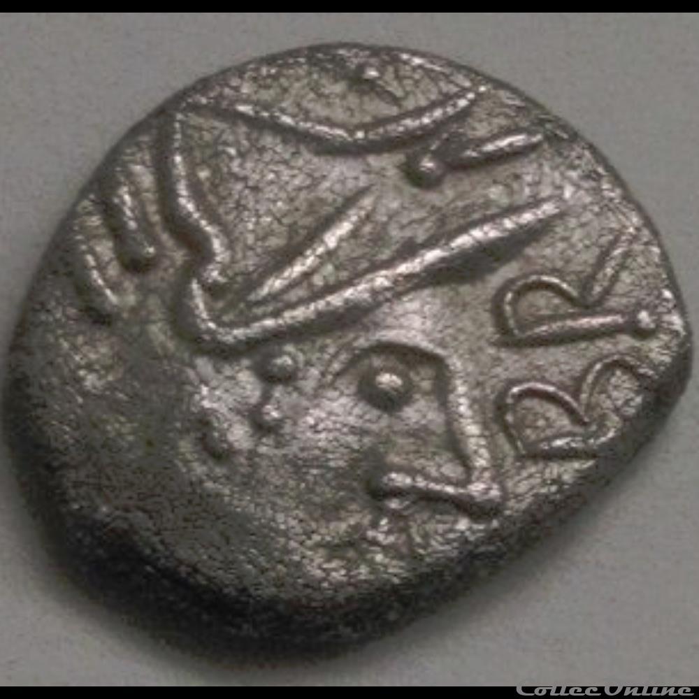 monnaie antique gauloise serie 869 dt 3135 denier au cavalier br coma