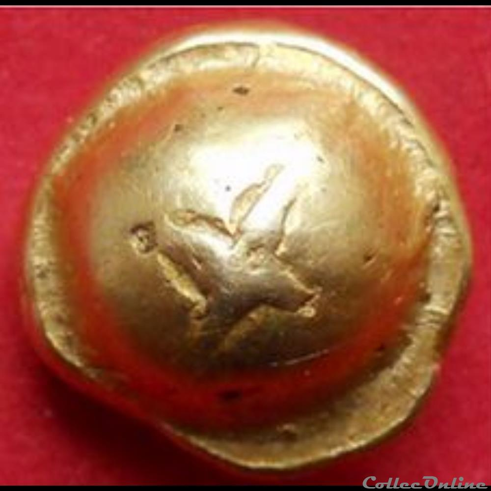 monnaie antique gauloise serie 493 dt 2537 statere globulaire a la croix
