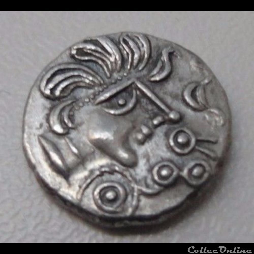 monnaie antique gauloise faux quinaire trinovante