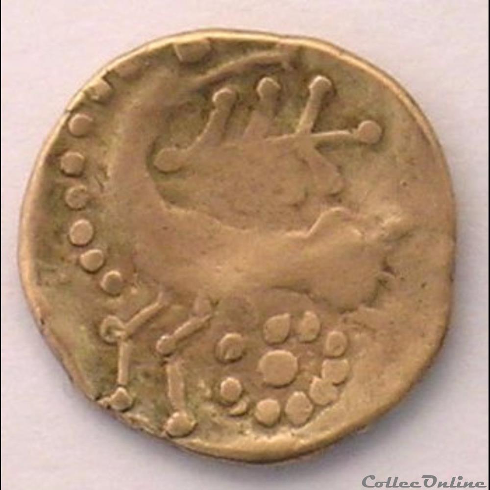 monnaie antique gauloise serie 21 dt 139 quart de statere d or au cheval retourne