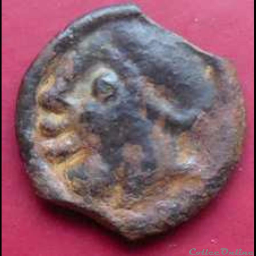 monnaie antique gauloise serie 625 dt 2675 potin au corbeau