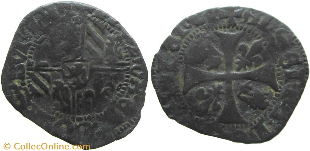 monnaie france feodale saint laurent les chalon 1422 04 engrogne variete au nom de philippe le bon
