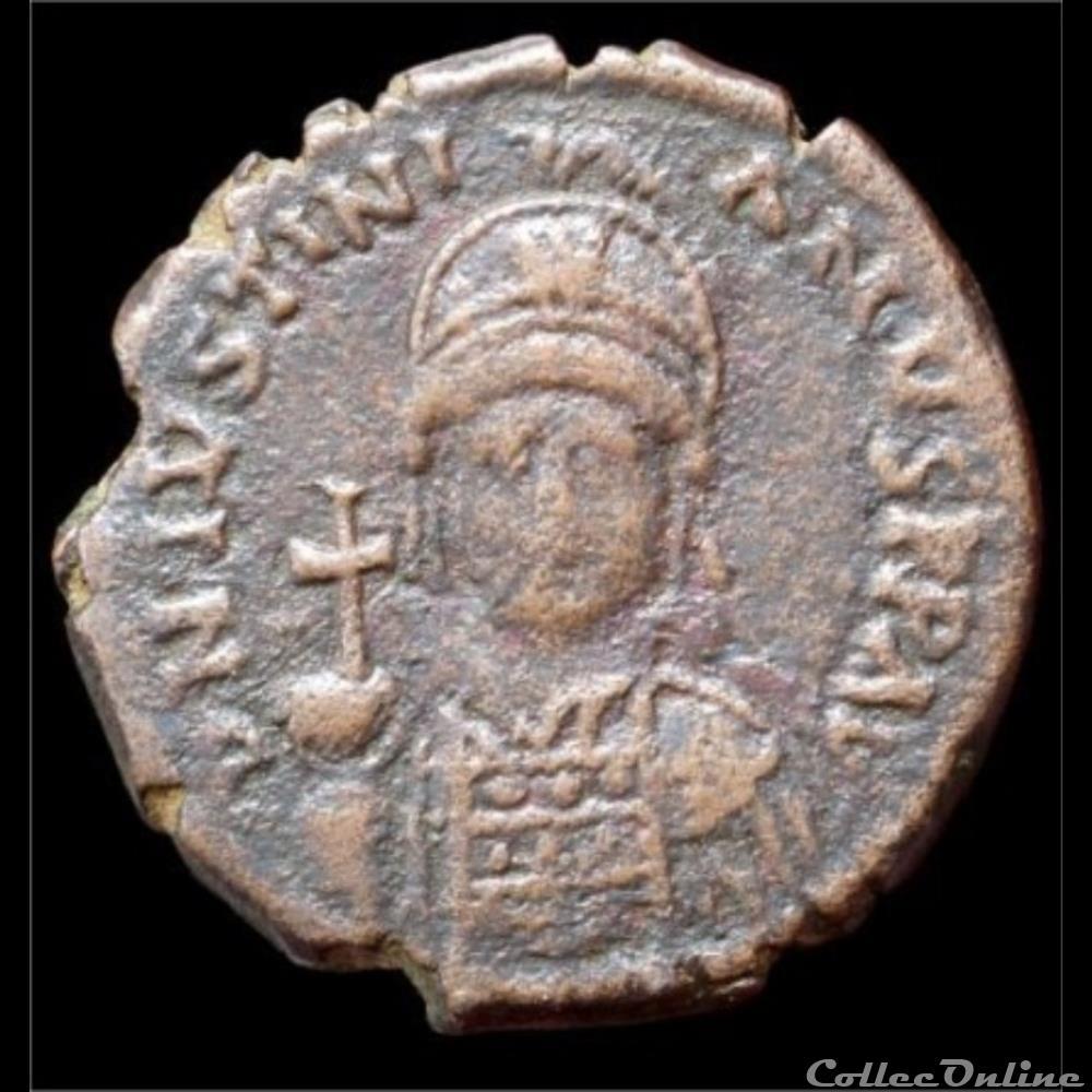 monnaie antique byzantine justinien i follis