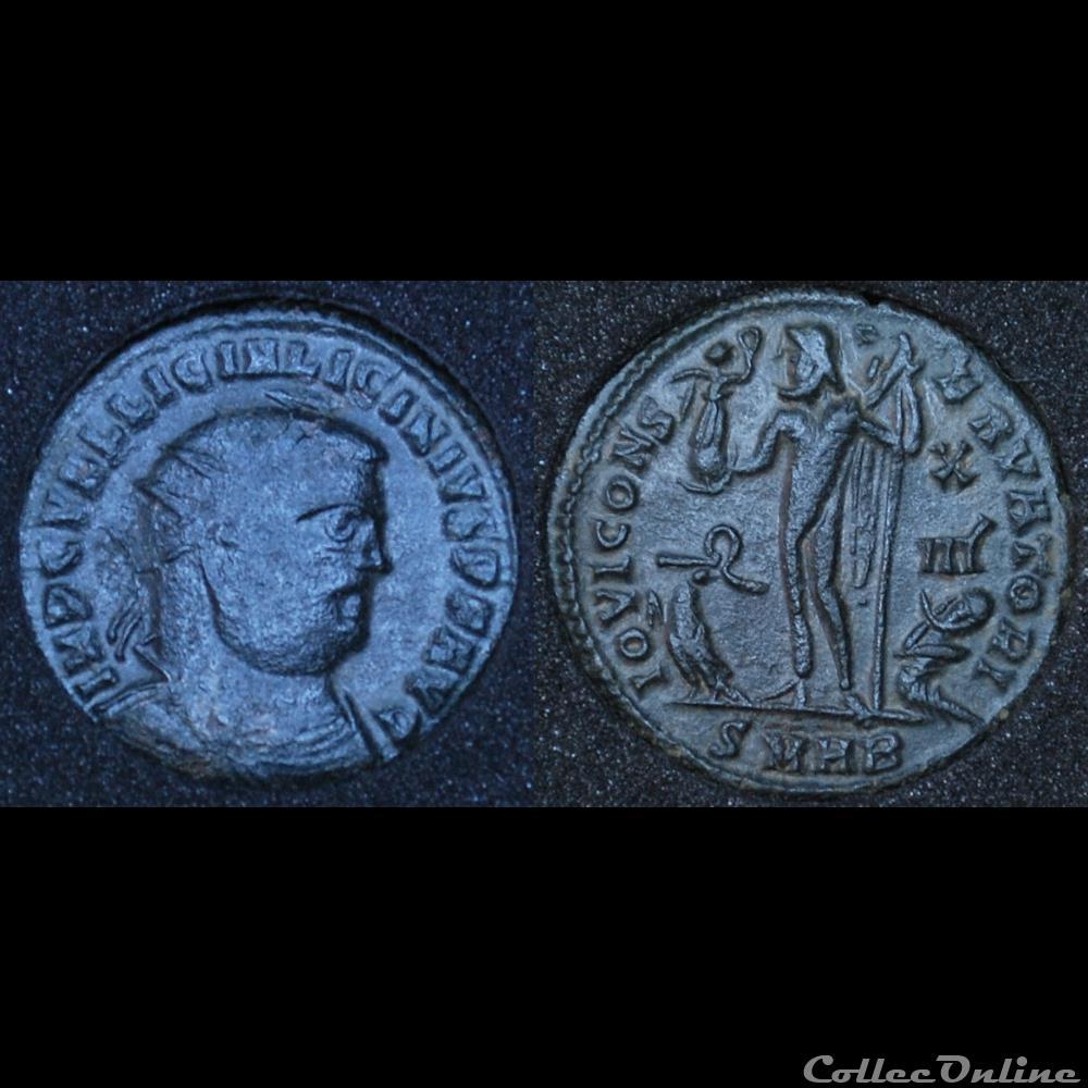 monnaie antique romaine nummus licinius iovi conservatori smhb