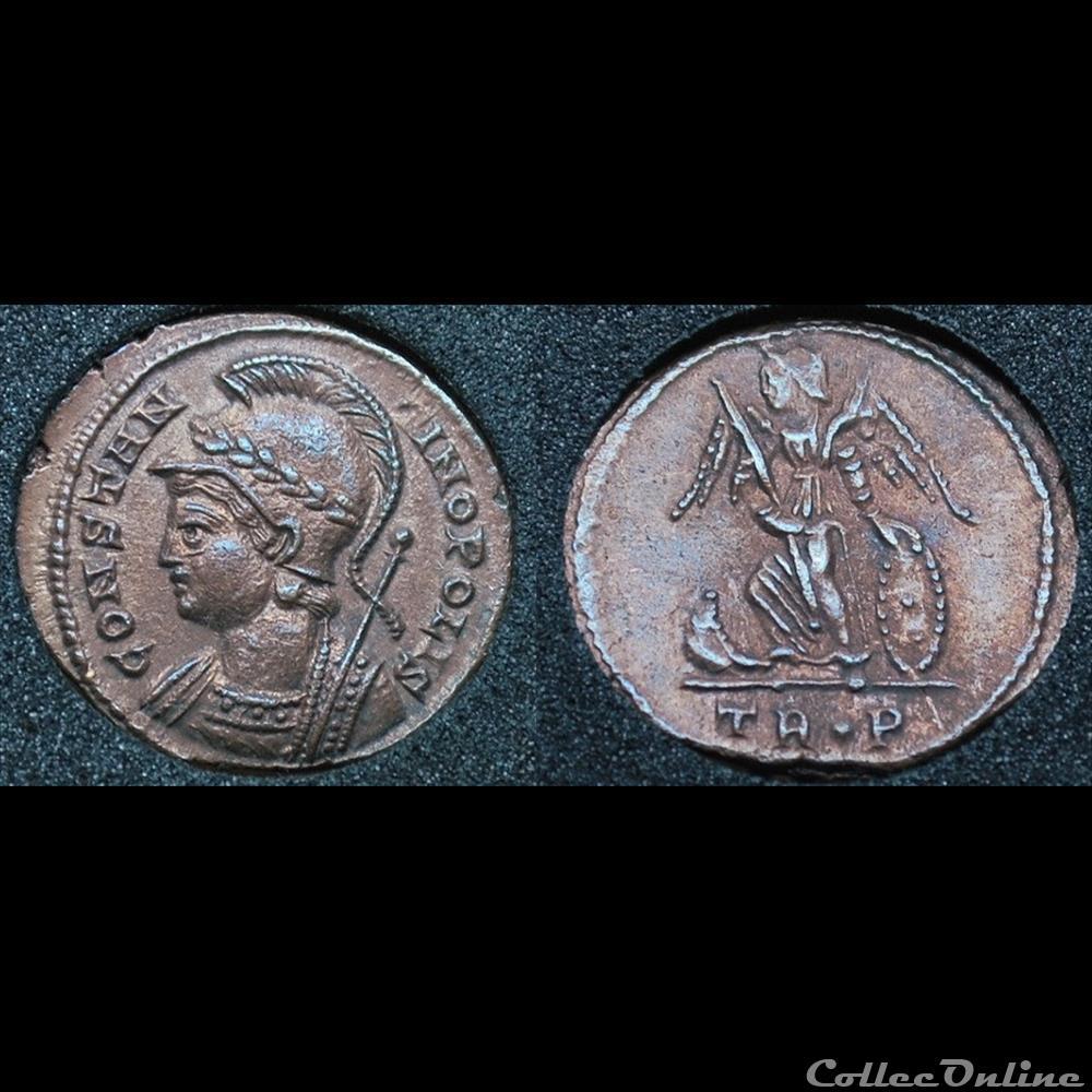 monnaie antique romaine nummus constantinopolis